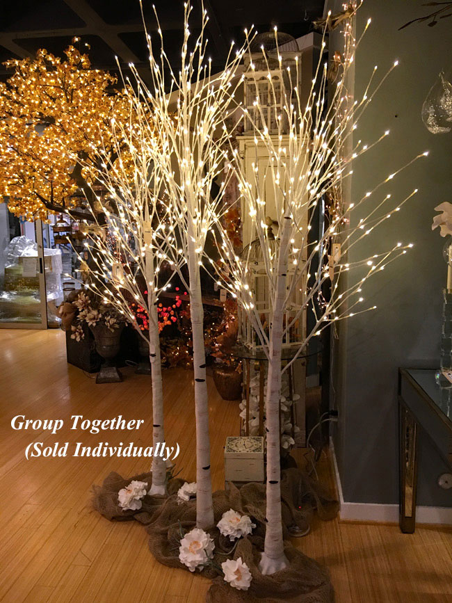 7 Foot White Birch Tree 240 Warm White Led S From The