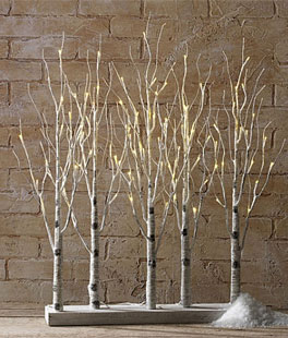 Raz Lighted Birch Grove 30 Inch 88 Warm White Led S Steady And Le Functions