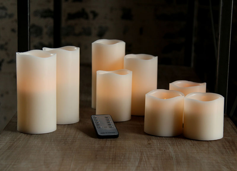 2 Piece 6 Inch Battery Operated Candles Universal Remote Control