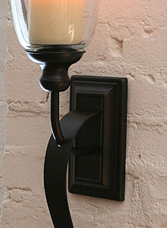 Rubbed Oil Bronze Battery Operated Iron Scroll Sconce   Buy Now