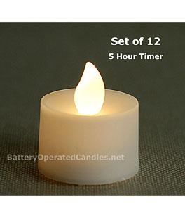 Flameless Tea Lights Battery Operated Tealight Candles