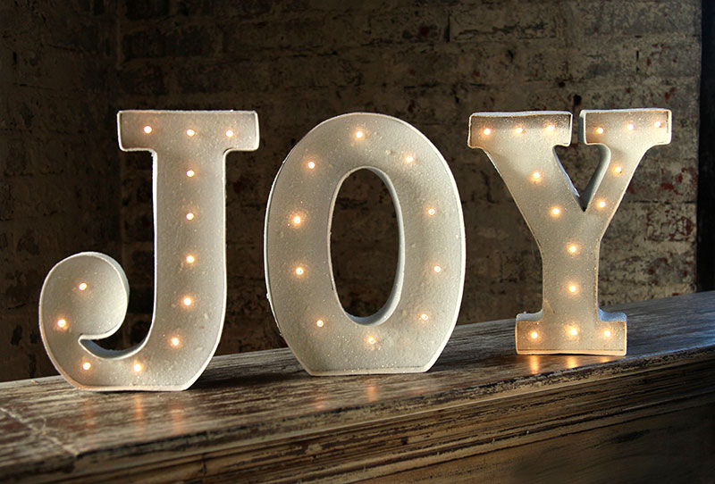 Related keywords suggestions for lighted joy sign for Lighted letters joy