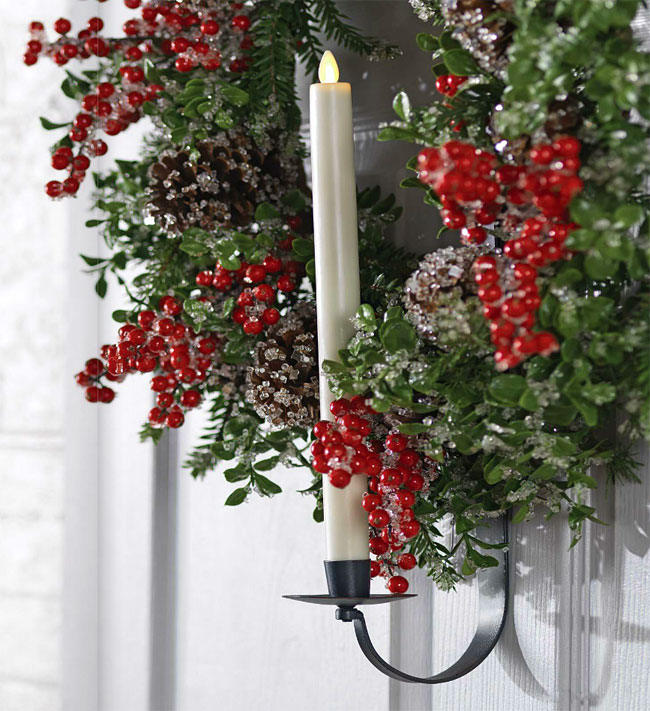 adjustable wreath and taper candle holder - 28 inch